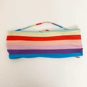 Rainbow bandeau bathing suit top